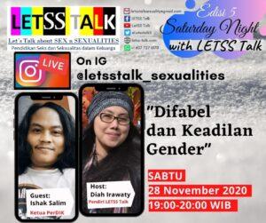 Info Acara Saturday Nite with LETSS Talk Edisi 5